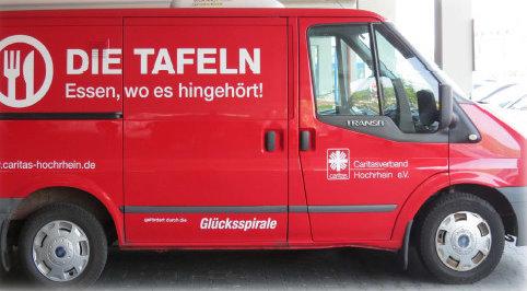 Tafel - Lieferwagen